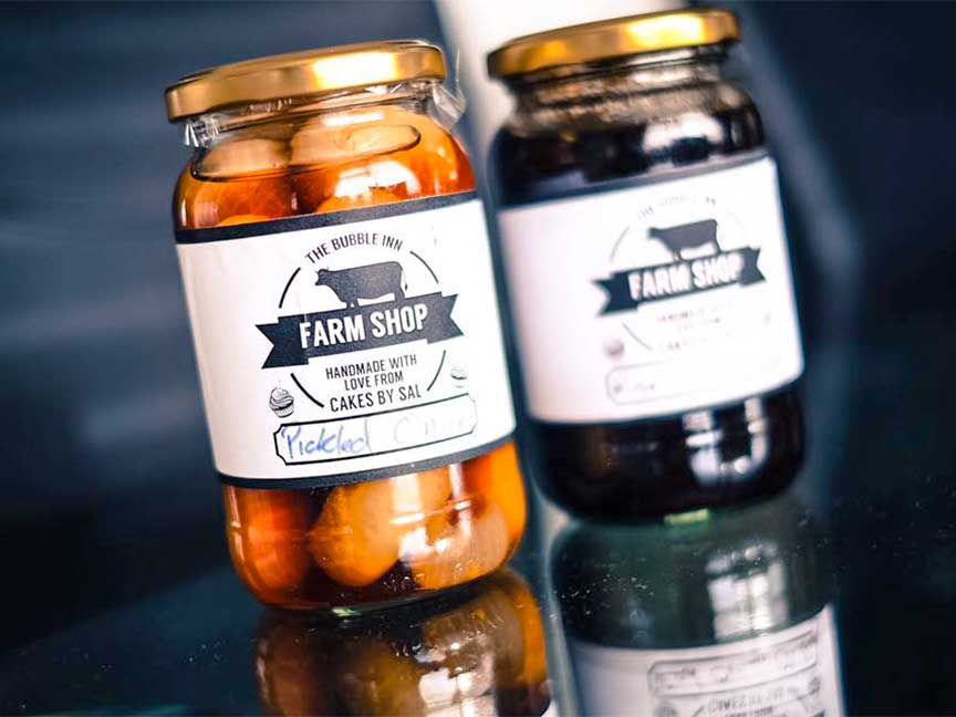 Pickles and Jams at The Bubble Inn Farm Shop