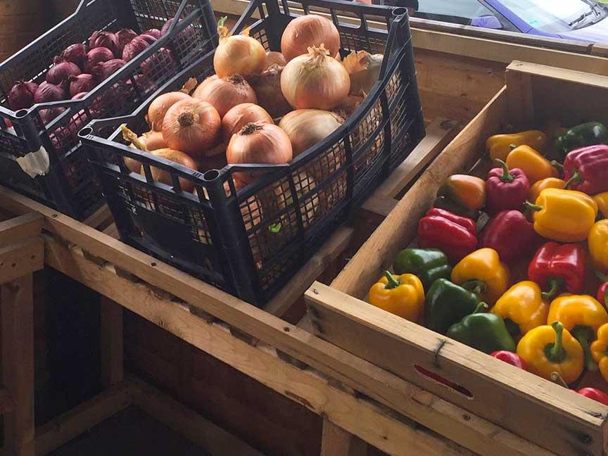 Vegetables at The Bubble Inn Farm Shop