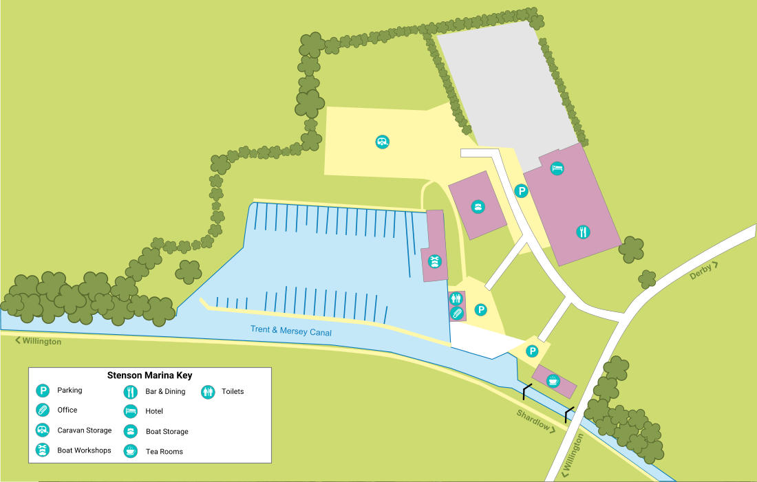 Map of Stenson Marina